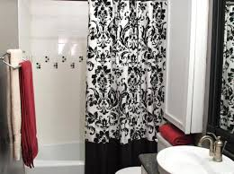 Red White Shower Curtain Curtains Amazing Red And Black Striped Curtains Stylish Red