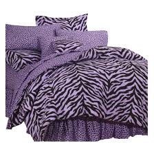 Black And Purple Bed Sets Purple And Black Twin Xl Zebra Print Bed In A Bag Free Shipping