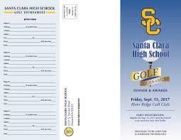 Charity Golf Tournament Welcome Letter annual golf tournament santa clara high school