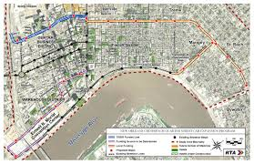 Map New Orleans N Rampart Street St Claude Avenue Streetcar Project