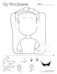 free five senses worksheets for kids 5 senses craft