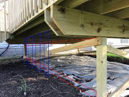 cantilevered deck how do you skirt a cantilevered deck