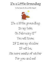 groundhog day learning poem and activities