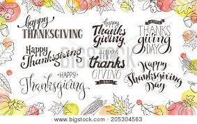 thanksgiving wording isolated on vector photo bigstock
