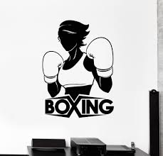 vinyl wall decal boxing girl boxer sports woman stickers mural vinyl wall decal boxing girl boxer sports woman stickers mural ig4546