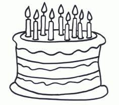 Birthday Cake Coloring Page Birthday Preschool Theme Pinterest Birthday Cake Coloring Pages