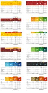Different Color Schemes Wordpress Pricing Tables