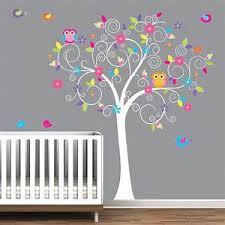 stickers chambre b b arbre stickers muraux arbre bébé