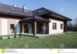 style one storey house photo single storey house with roof deck