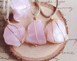 rose quartz rose necklace images Rose quartz necklace etsy jpg