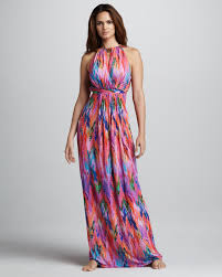what is a maxi dress matthew williamson tieback halter coverup maxi dress in pink lyst