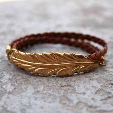 leaf wrap bracelet images Vintage leaf genuine braided greek leather wrap bracelet jpg