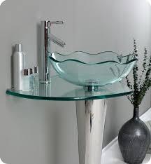 Glass Bathroom Vanity 24 Fresca Netto Fvn1036 Modern Glass Bathroom Vanity W Wavy