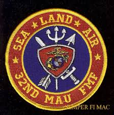 32 nd mau us marines amphibious unit patch uss beirut c lejeune