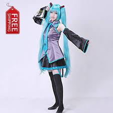 Halloween Custom Costumes Aliexpress Buy Japanese Anime Vocaloid Ii Hatsune Miku