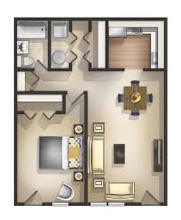 Home Design Ideas Best  Studio Apartment Floor Plans Ideas On - One bedroom designs