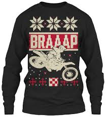 christmas sweater motocross christmas sweater look braaap products from the