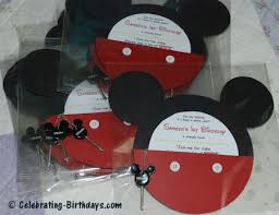 diy mickey mouse pocket invitations for a mickey mouse clubhouse