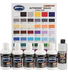 6100 16 16oz autoborne primary set w mixing chart airbrush