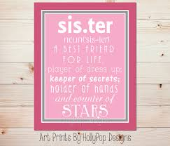 Girls Bedroom Artwork Sister Definition Print Sisters Shared Bedroom Art Girls