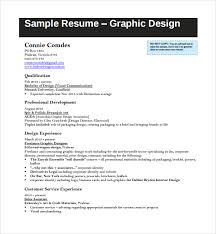 Sample Resume Graphic Design by Sample Design Cv Template 8 Free Documents Download In Pdf Word