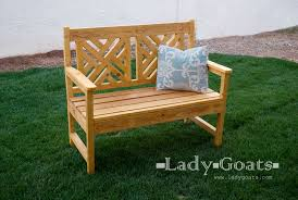 Free Outdoor Garden Bench Plans by Ana White Woven Back Bench Diy Projects