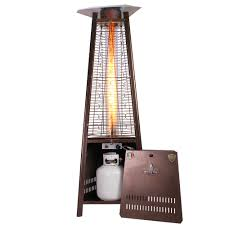 Pyramid Patio Heater by Lhi 105 Heritage Bronze Natural Gas