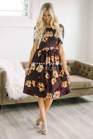 summer dress plum dusty yellow floral modest summer dress modest clothes