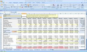 Financial Business Plan Template Excel Excel Three Year Flow Plan