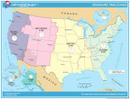 Map Of Unite States by Map Of Time Zones Of The United States The United States