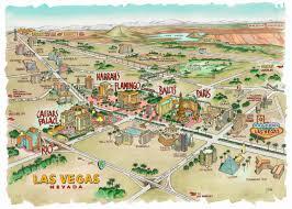 Map Of Las Vegas Casinos by Editorial Advertising