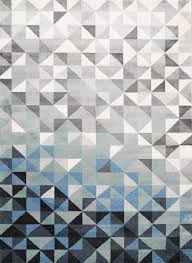 Grey Modern Rugs Divinity Triangle Blue Grey Modern Rug The Rugs
