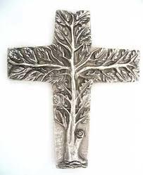 tree of cross silver bronze catholic christian