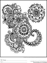 intricate design coloring pages kids coloring
