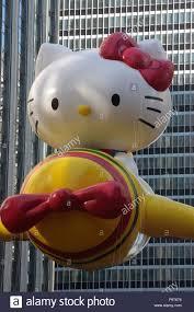 macy u0027s thanksgiving parade kitty float stock photo