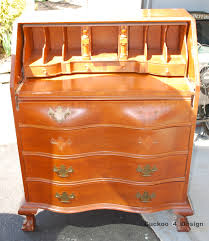 Wood Secretary Desk by Refinished Secretary Desk Cuckoo4design