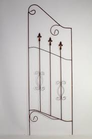 wrought iron musical note trellis pair plant support
