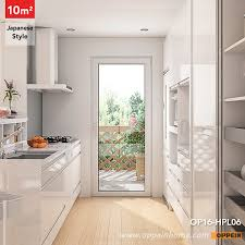 op16 hpl06 10 square meters japanese style galley kitchen design