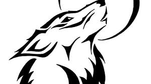 simple drawing of a wolf tribal wolf drawing tattoos