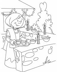 happy diwali coloring pages images pictures printable