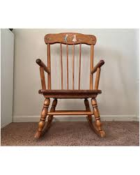 Wooden Rocking Chairs Nursery Spectacular Deal On Vintage Childrens Rocking Chair Oak Hill Wood