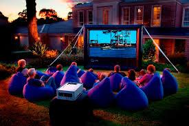 Backyard Movie Night Backyard Movie Equipment Outdoor Furniture Design And Ideas