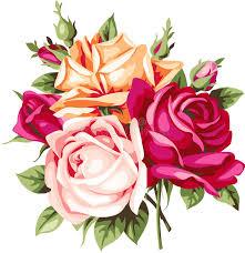 imagenes de rosas vintage ramo decorativo del vintage de rosas vector las flores ilustración