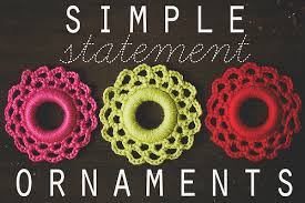 crochet simple statement ornaments goodknits a knitting