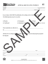 Sample Notice Of Termination Of Service Contract by Orha Oregon Rental Housing Association Online Forms Store