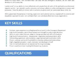 Sample Nurse Resume With Job Description by 28 Skills And Abilities For Nursing Resume Unforgettable