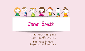 childcare business cards child care business card design 2201051