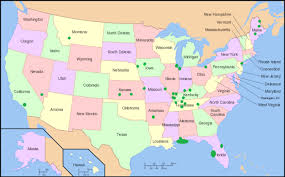 detailed map of usa and canada landforms of the united states of america and usa landforms map