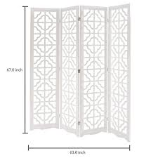mygift folding wood 4 panel screen moroccan cutout room divider