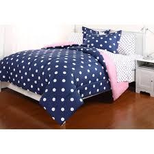Blue And Purple Comforter Sets Queen Size Polka Dot Reversible Bed In A Bag Bedding Set Walmart Com